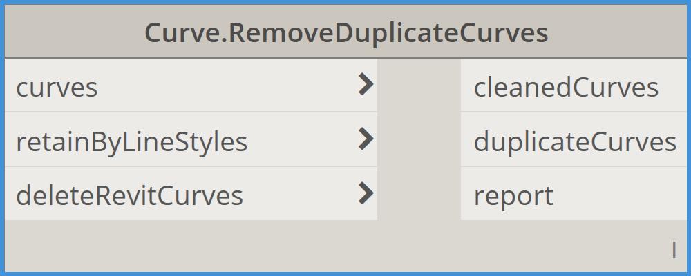 Bimorph Nodes RemoveDuplicateCurves Dynamo BIM Package for Revit